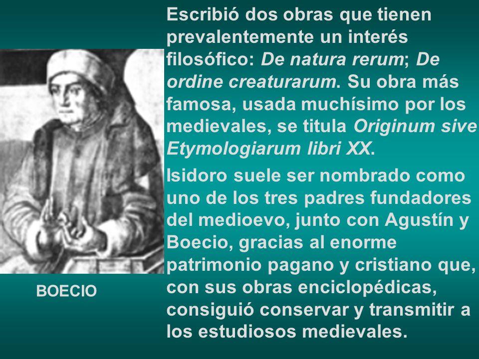 Escribió dos obras que tienen prevalentemente un interés filosófico: De natura rerum; De ordine creaturarum. Su obra más famosa, usada muchísimo por l