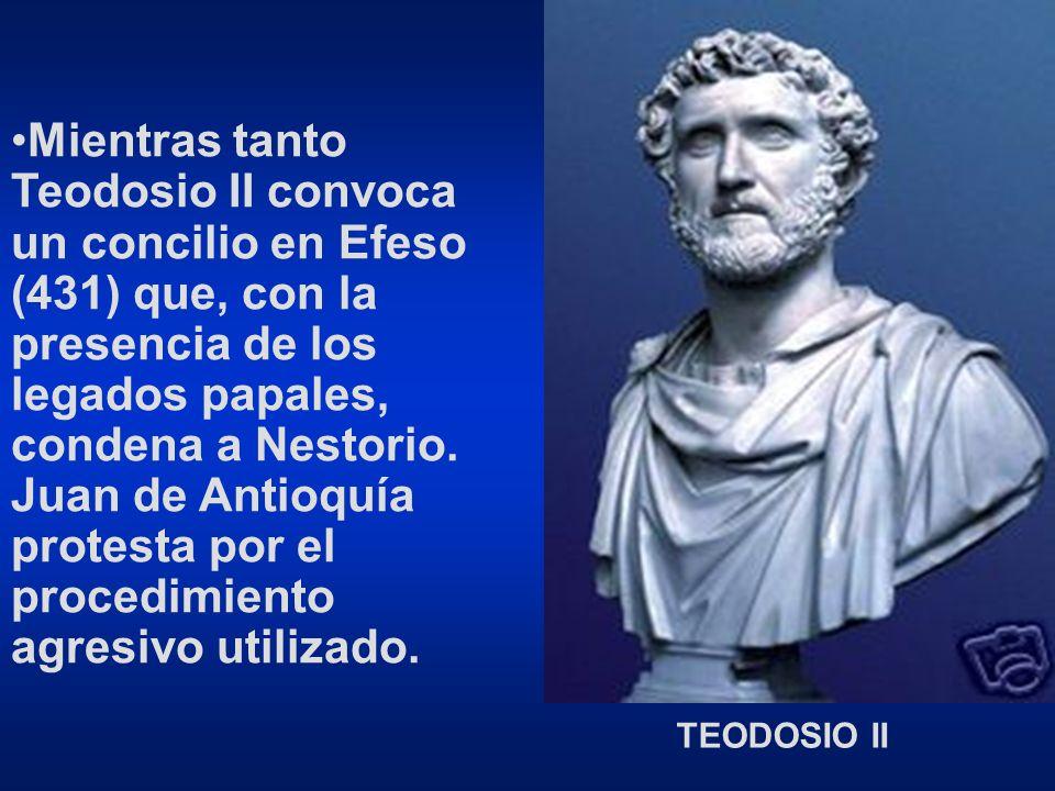 A los cuatro días Juan de Antioquía, con Nestorio, excomulgan y deponen a Cirilo.
