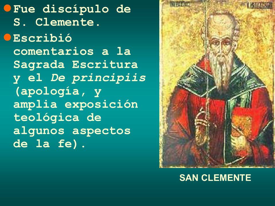 Fue discípulo de S. Clemente. Escribió comentarios a la Sagrada Escritura y el De principiis (apología, y amplia exposición teológica de algunos aspec