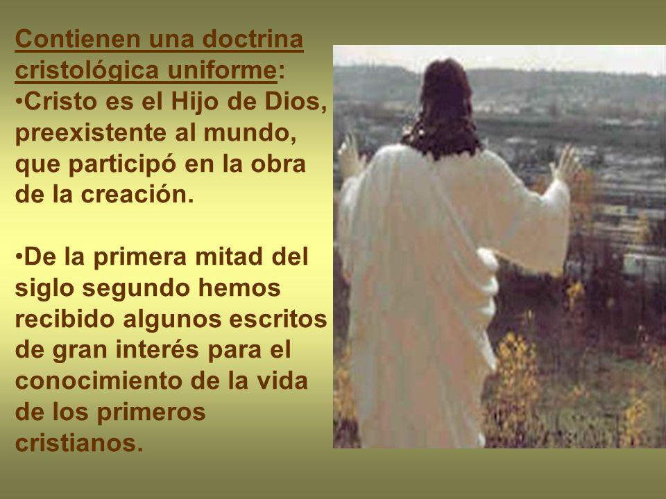 Contienen una doctrina cristológica uniforme: Cristo es el Hijo de Dios, preexistente al mundo, que participó en la obra de la creación. De la primera