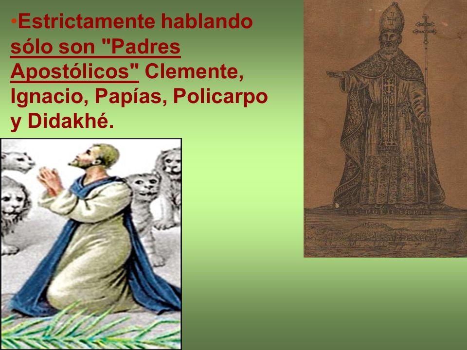 Bernabé y Hermas pertenecen mas bien a los escritos apócrifos y Diogneto a los de tipo apologético.