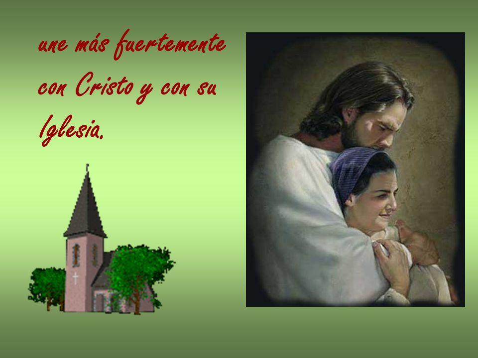 Fortalece en el alma los dones del Espíritu Santo; concede una fuerza especial para dar testimonio de la de cristiana.