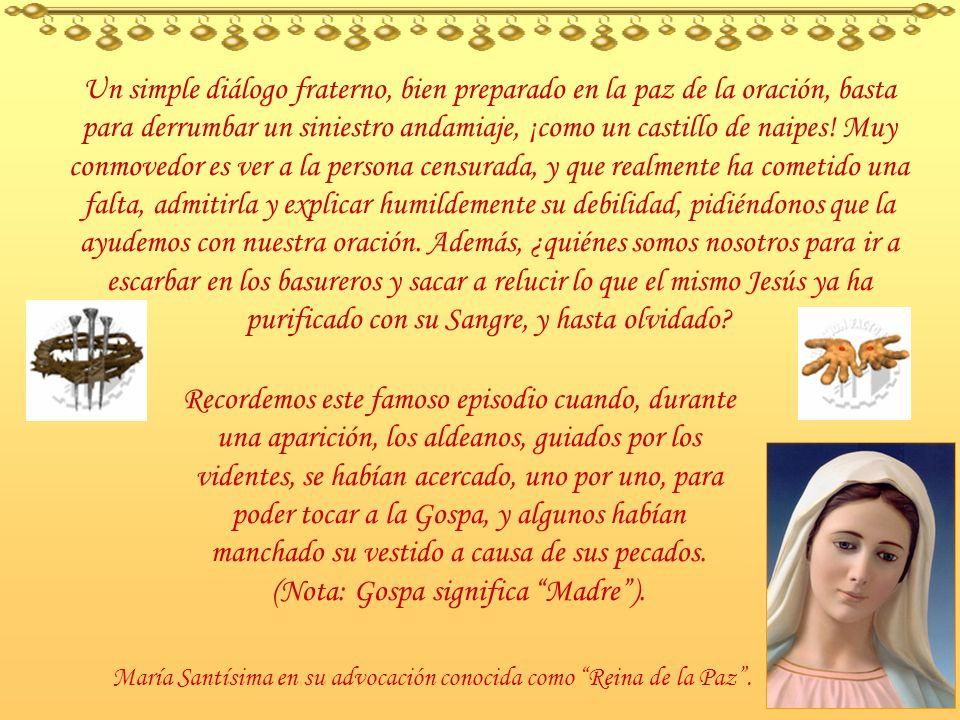 El santo Cura de Ars decía: El calumniador es semejante a la oruga que, paseándose sobre las flores, deja su baba sobre ellas y las ensucia. El pequeñ