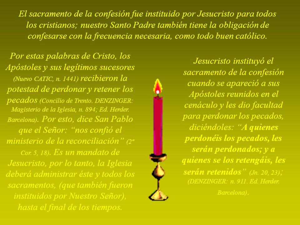 El dolor es lo más importante de la confesión porque si hay dolor, hay arrepentimiento, entonces, explica el P.