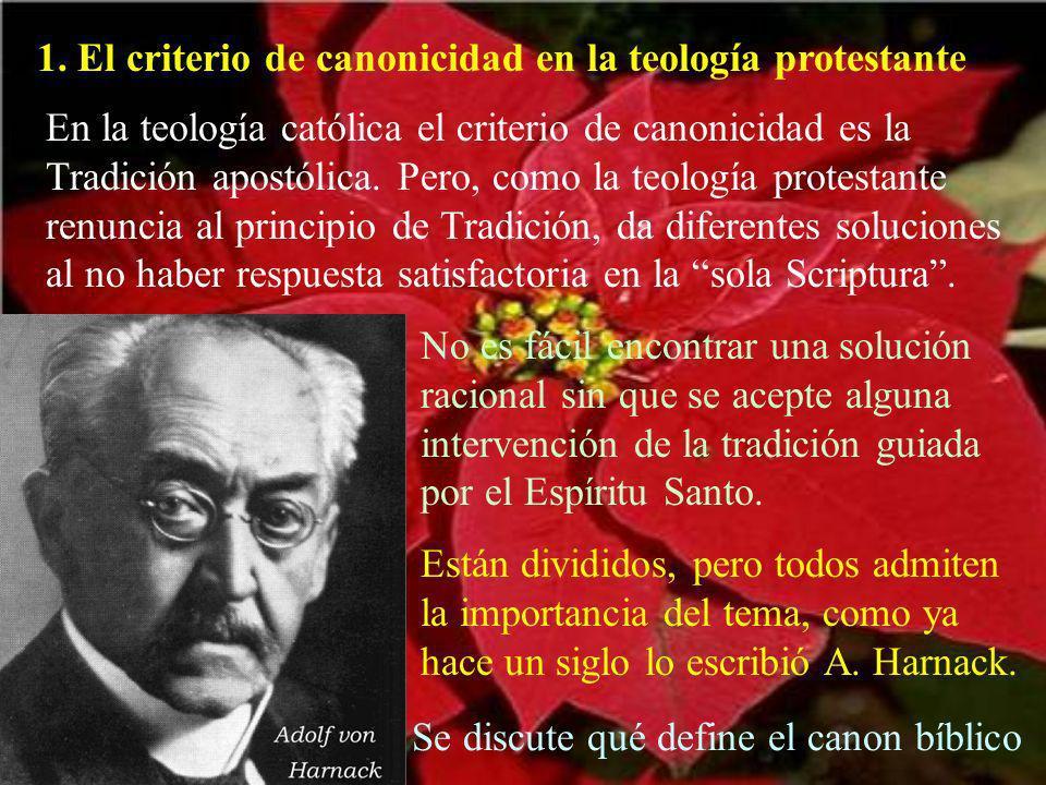 a.Breve cuadro histórico de los criterios de canonicidad.