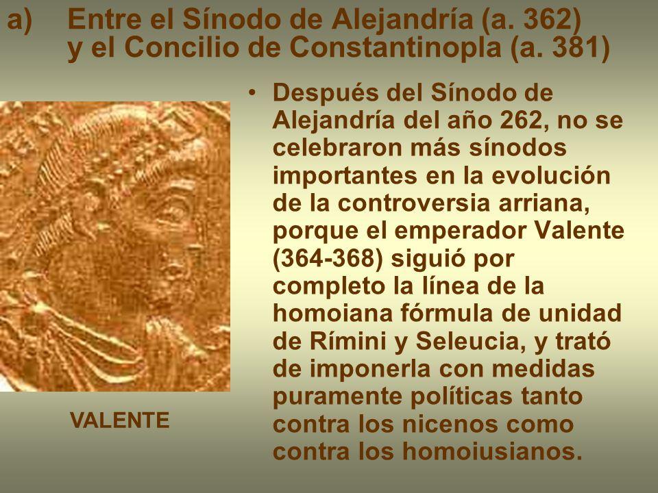 El emperador Teodosio puso fin, a partir de 379, a la dimensión política de la controversia.