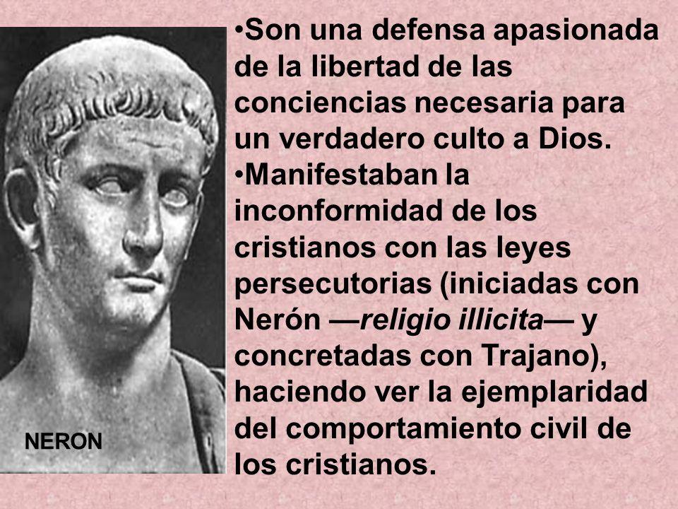 Son una defensa apasionada de la libertad de las conciencias necesaria para un verdadero culto a Dios. Manifestaban la inconformidad de los cristianos