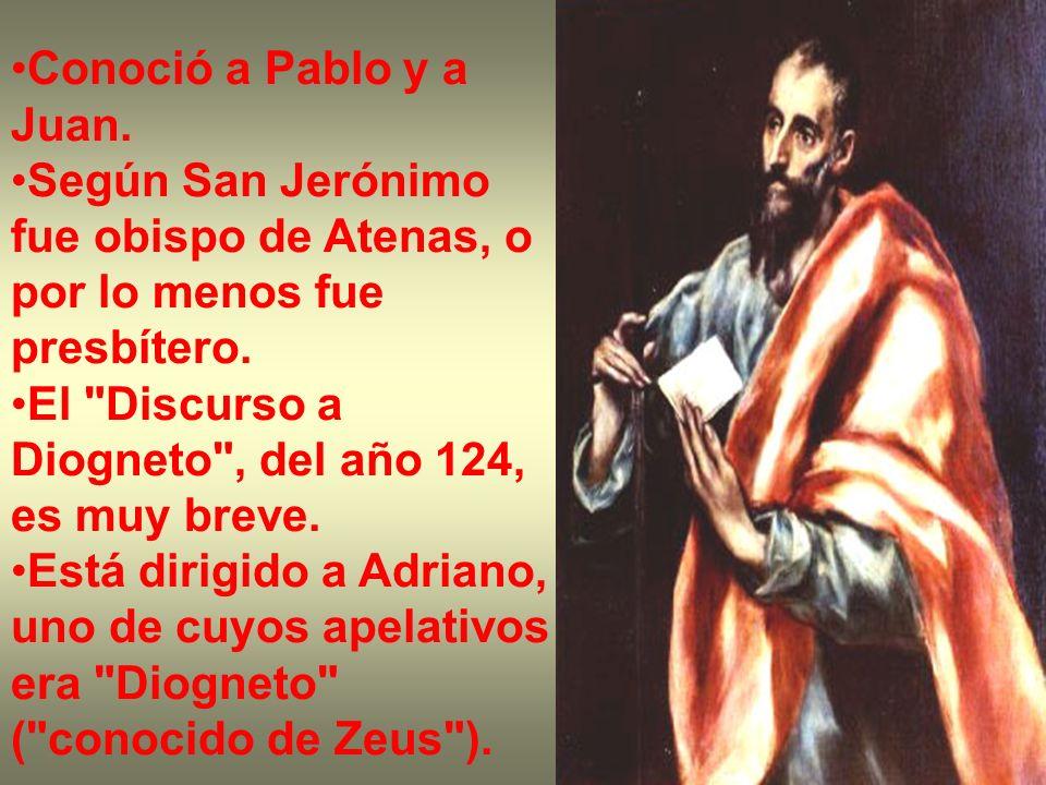 Conoció a Pablo y a Juan. Según San Jerónimo fue obispo de Atenas, o por lo menos fue presbítero. El