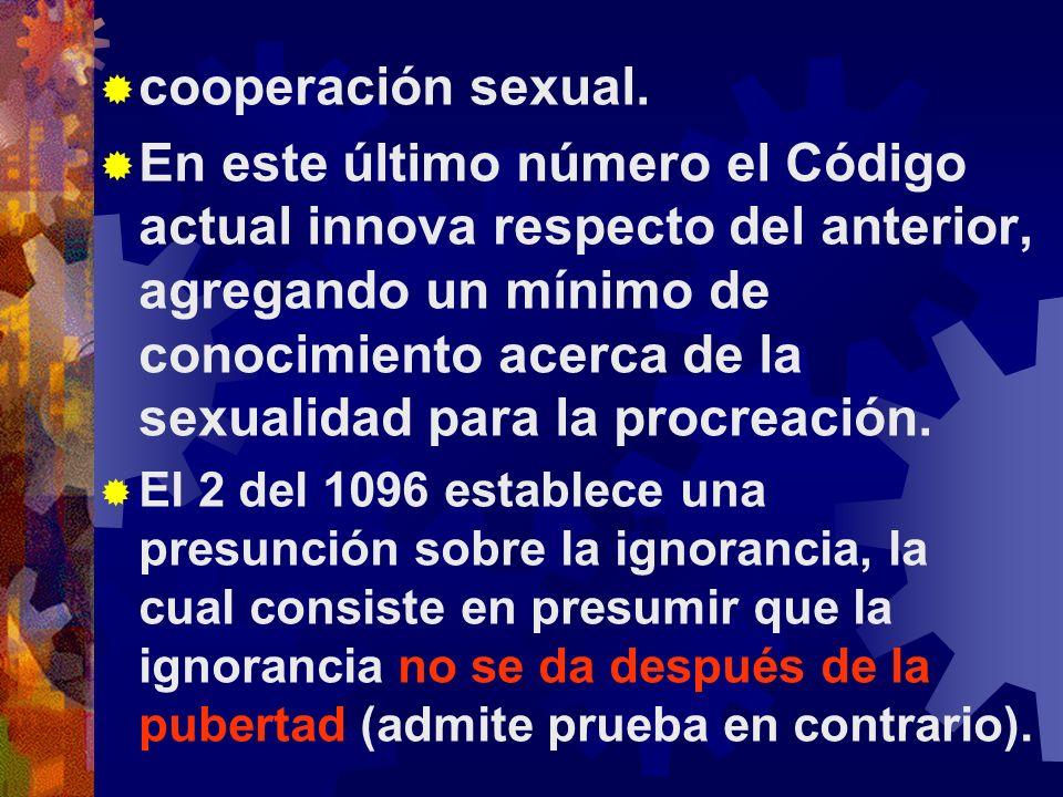 cooperación sexual.