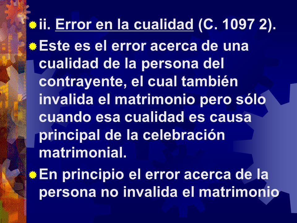 ii.Error en la cualidad (C. 1097 2).