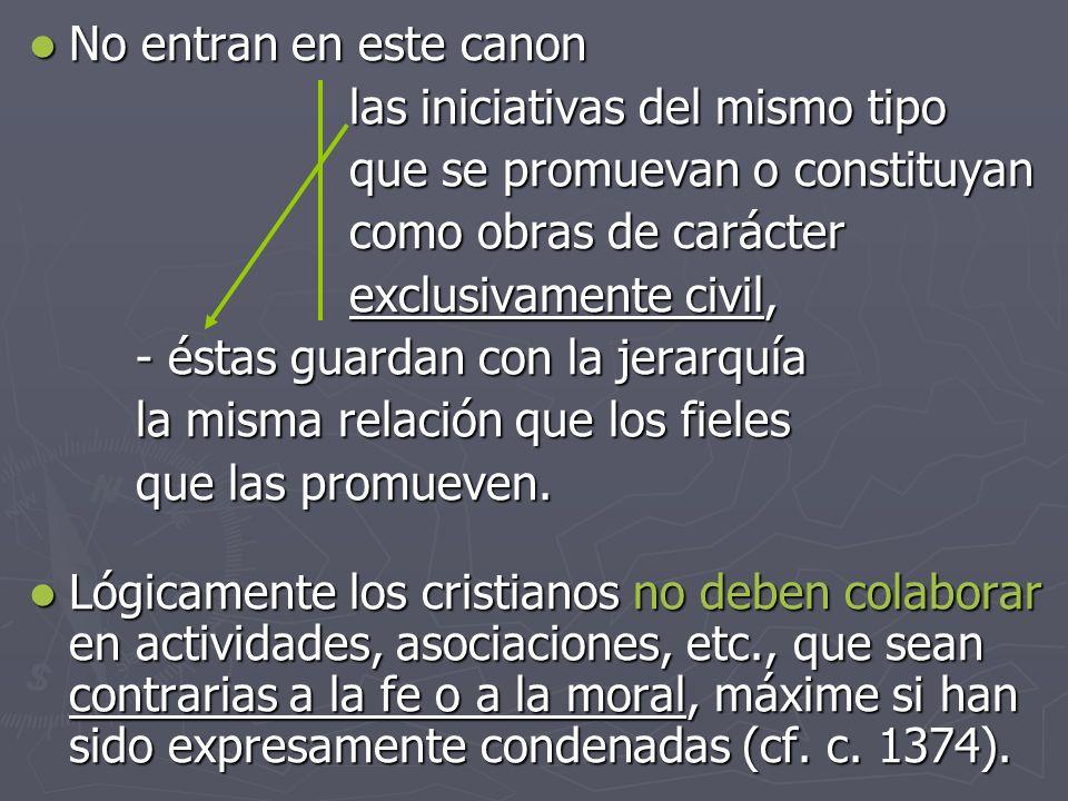 No entran en este canon No entran en este canon las iniciativas del mismo tipo que se promuevan o constituyan como obras de carácter exclusivamente ci