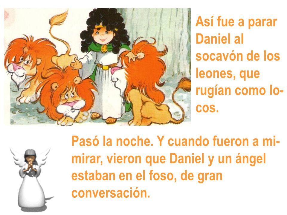 Así fue a parar Daniel al socavón de los leones, que rugían como lo- cos.