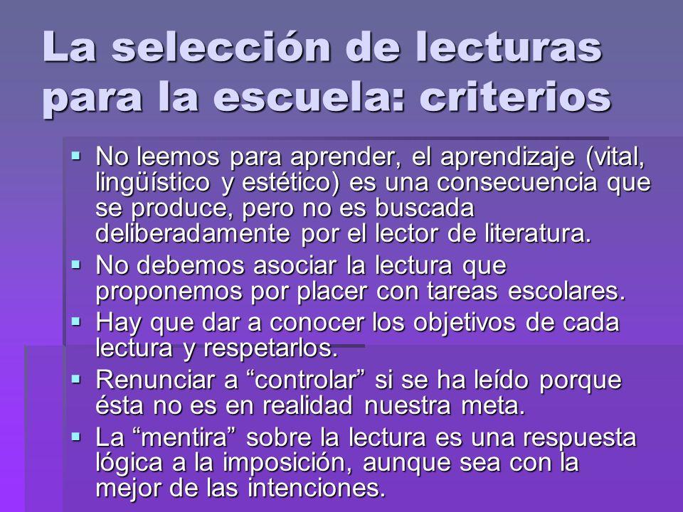 Lectura y literatura en la escuela: exigencias Espacios y tiempos en el aula y en el centro.