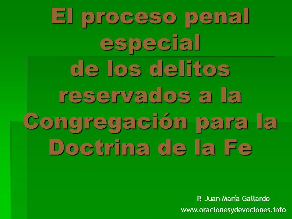 Además, terminada la instancia, se deben remitir a la Congregación para la Doctrina de la Fe las actas de la causa.