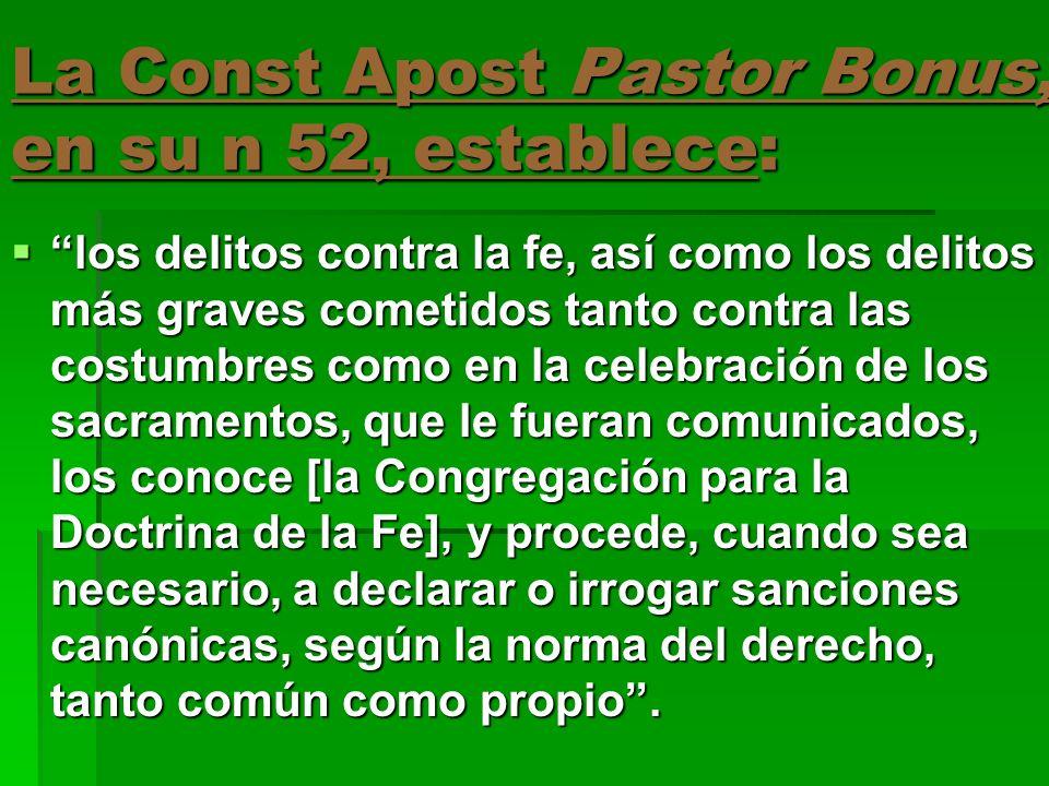 La Const Apost Pastor Bonus también indica: para el fuero interno, tanta sacramental como no sacramental, [la Penitenciaría Apostólica] concede las absoluciones, dispensas, conmutaciones, sanciones, condonaciones y otras gracias.