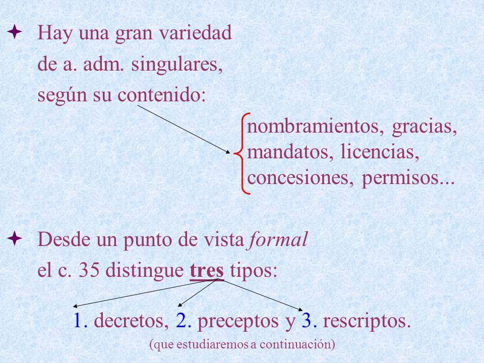 Decretos singulares C.