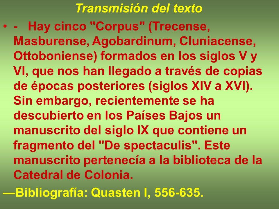 Transmisión del texto - Hay cinco