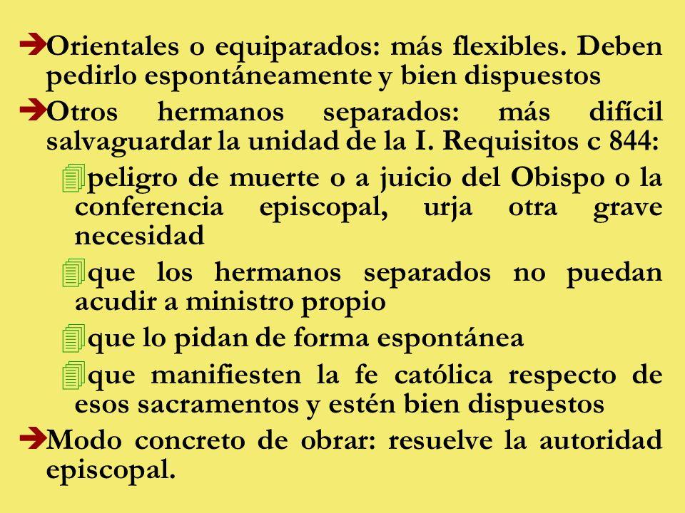èOrientales o equiparados: más flexibles.