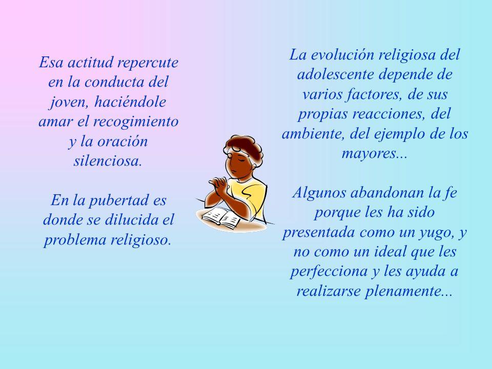 Los hijos quieren que se escuchen sus opiniones, que se comprendan sus problemas, y que se les mande como a personas mayores. Los valores se proponen,