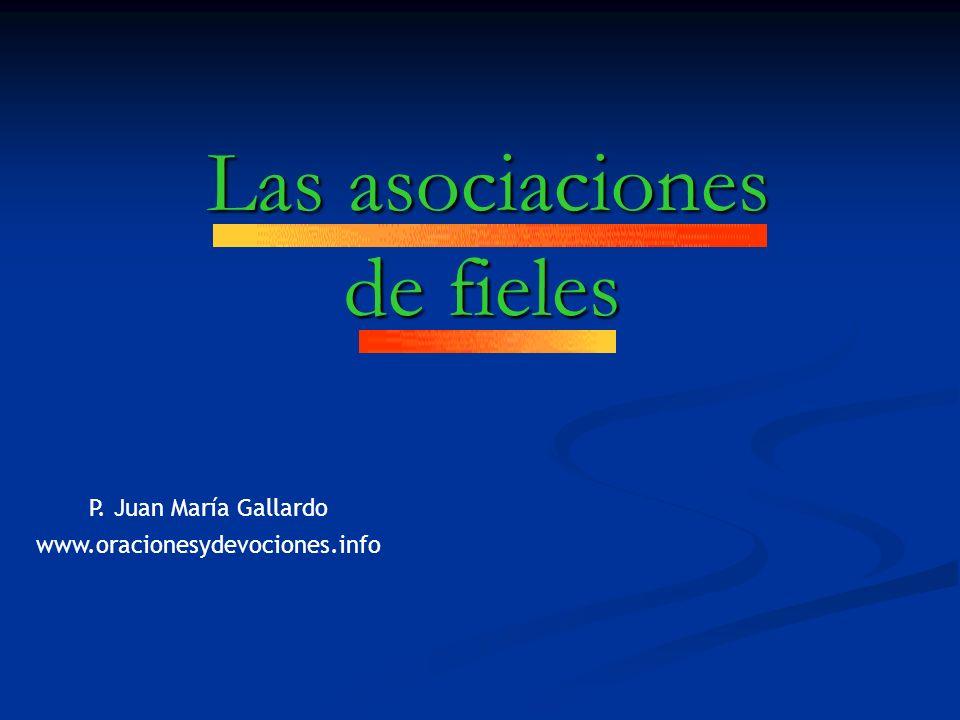 Las asociaciones de fieles Las asociaciones de fieles P.