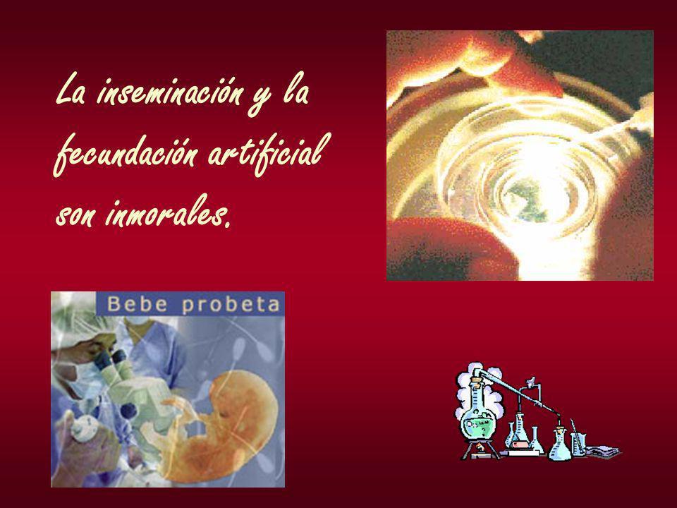 La inseminación y la fecundación artificial son inmorales.