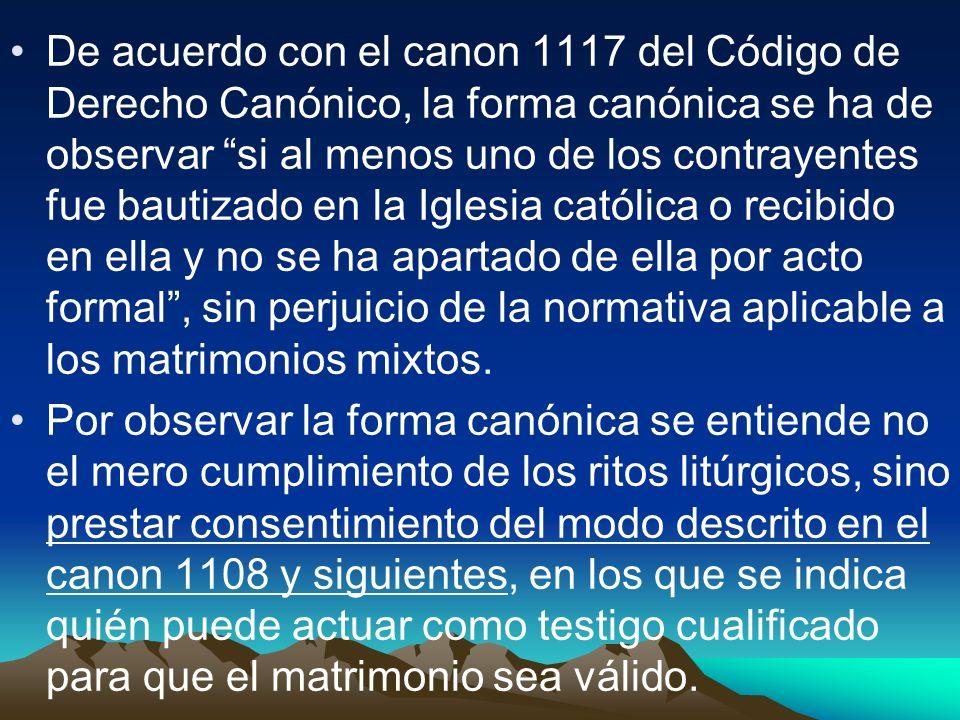 2.El Testigo cualificado –Cc. 1108-1110.