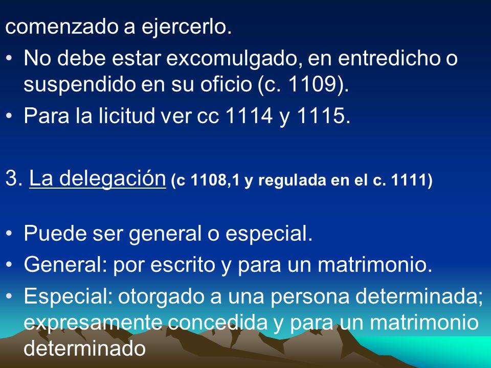 El c.1112: delegación a los laicos. 4) Suplencia a la facultad de asistir al matr C.