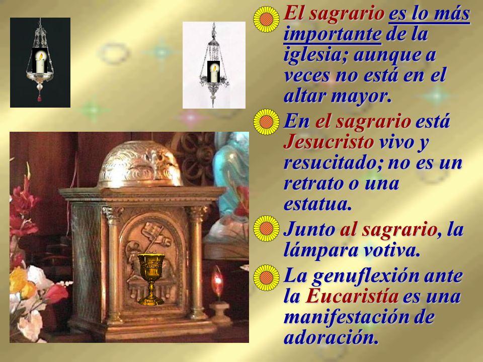 La Visita al Santísimo Jesucristo está deseando que vayamos a visitarle.Jesucristo está deseando que vayamos a visitarle.