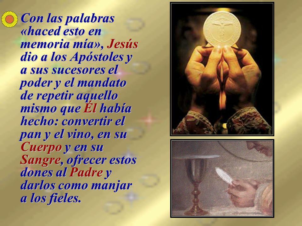 Jesucristo está en todas las Hostias consagradas entero en cada una de ellas.Jesucristo está en todas las Hostias consagradas entero en cada una de ellas.