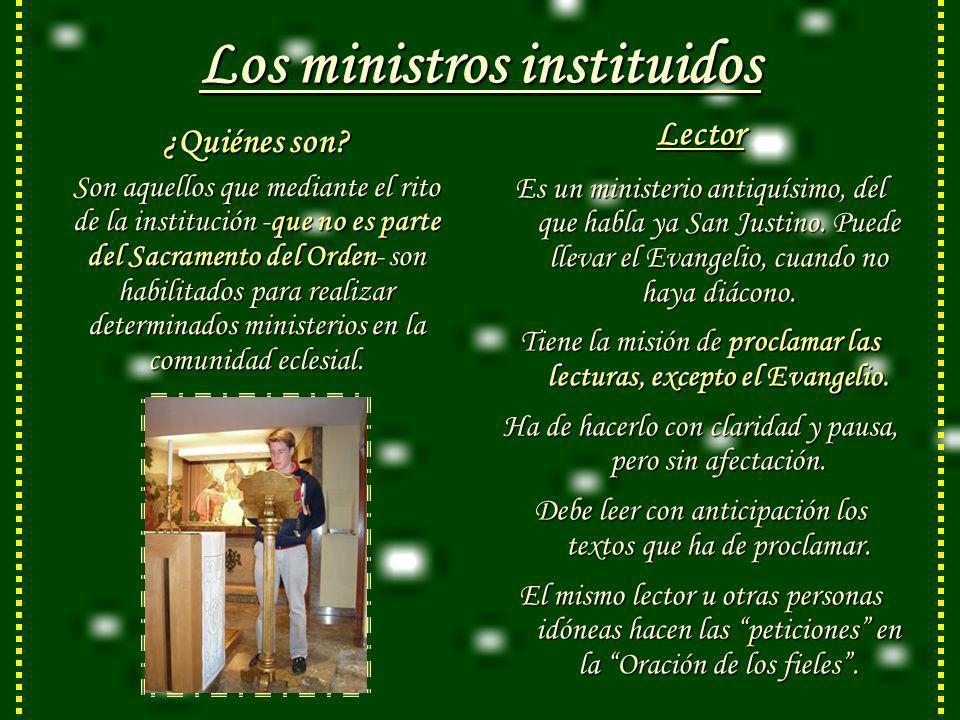 Los ministros instituidos ¿Quiénes son.