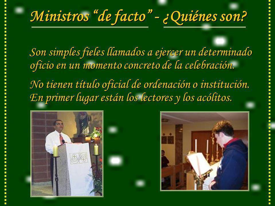 Ministros de facto - ¿Quiénes son.