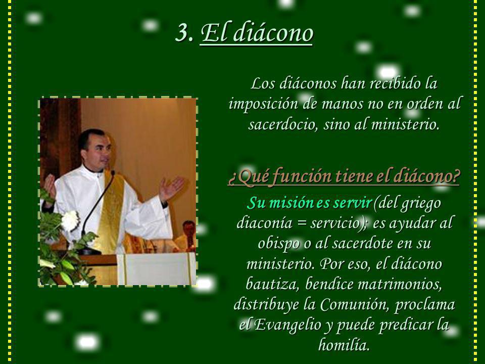 2. El presbítero: El presbítero no tiene la plenitud del sacerdocio, como el obispo, pero es verdadero sacerdote, porque al recibir el Sacramento del