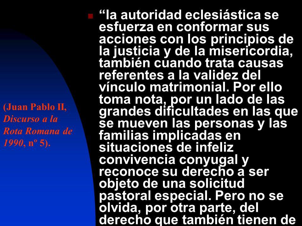 la autoridad eclesiástica se esfuerza en conformar sus acciones con los principios de la justicia y de la misericordia, también cuando trata causas re