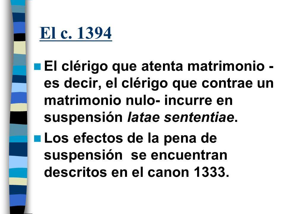 Si el clérigo es además miembro de un instituto religioso, incurre en el mismo delito del canon 1394.