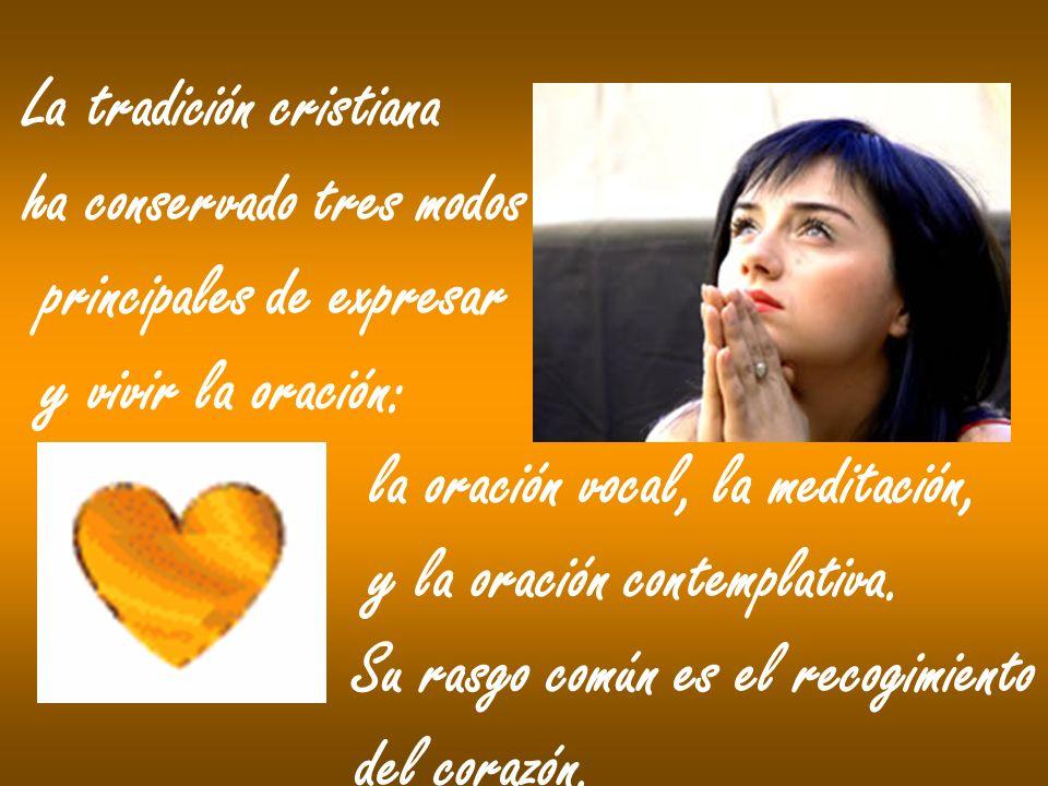 La oración vocal asocia el cuerpo a la oración interior del corazón.