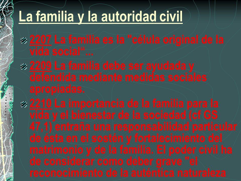 La familia y la autoridad civil 2207 La familia es la