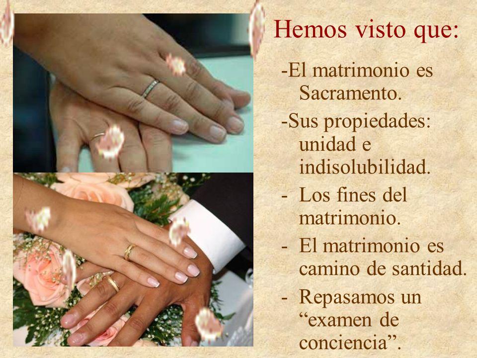 Examen Convendrá que los casados hagan su examen de conciencia...