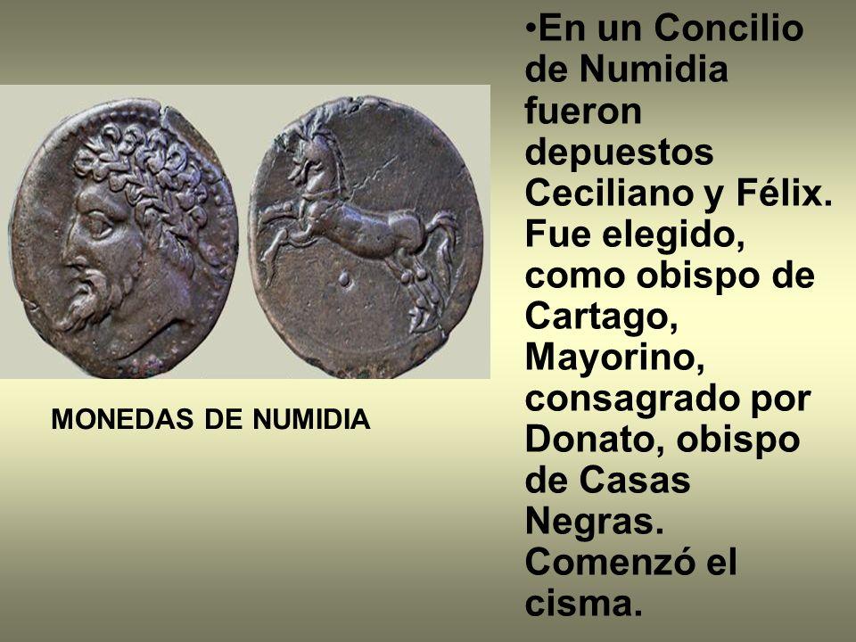En un Concilio de Numidia fueron depuestos Ceciliano y Félix.