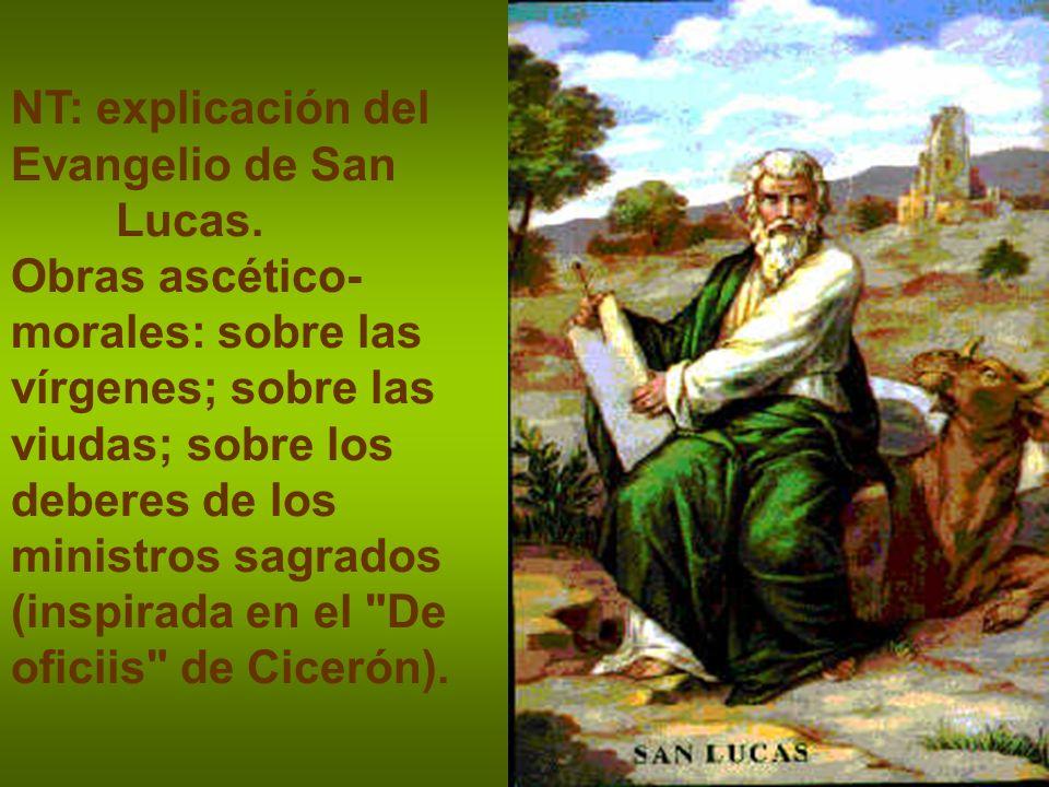 NT: explicación del Evangelio de San Lucas.