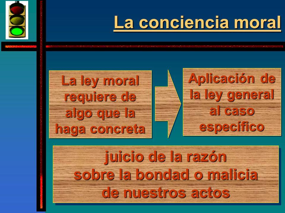 La conciencia moral...
