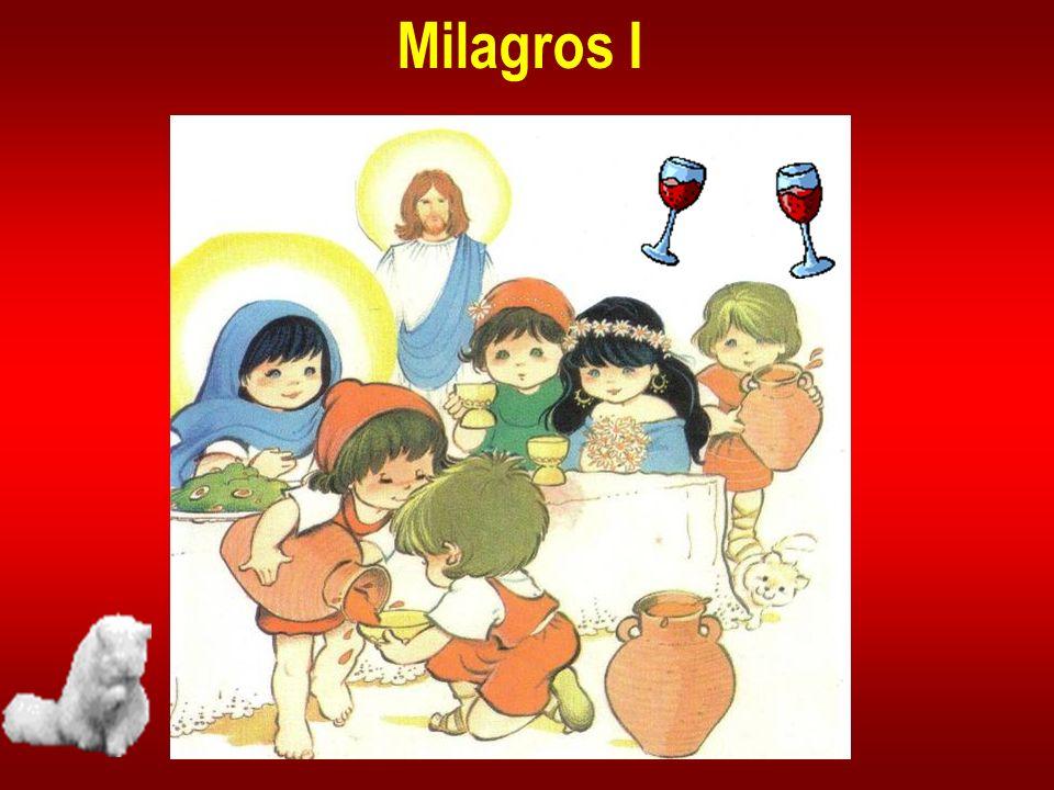 Jesús y María, su Madre, fueron invitados a un ca- samiento en Caná, un pue- blito próximo a Nazaret, de donde era Natanael.