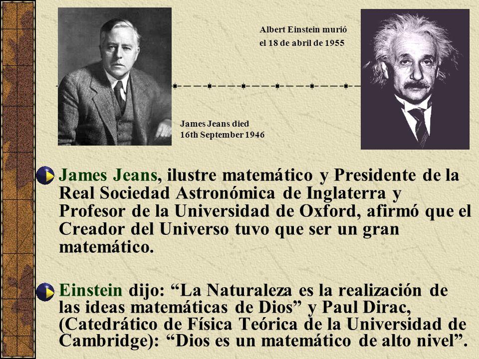 James Jeans, ilustre matemático y Presidente de la Real Sociedad Astronómica de Inglaterra y Profesor de la Universidad de Oxford, afirmó que el Cread
