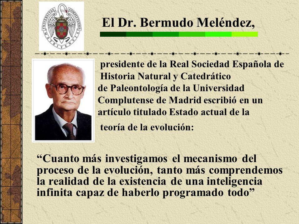 El Dr. Bermudo Meléndez, presidente de la Real Sociedad Española de Historia Natural y Catedrático de Paleontología de la Universidad Complutense de M