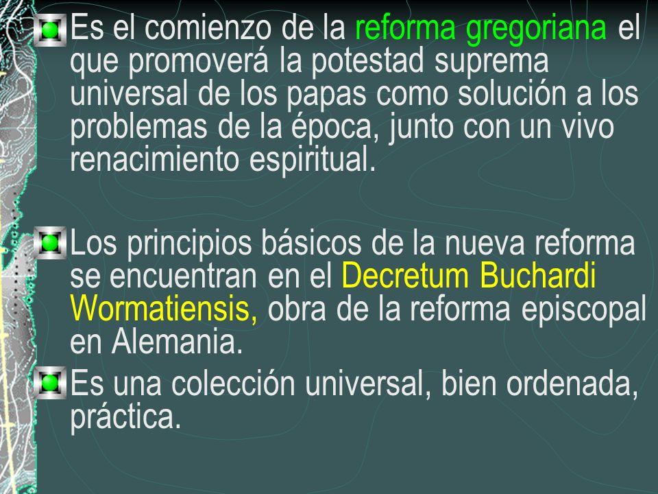 Es el comienzo de la reforma gregoriana el que promoverá la potestad suprema universal de los papas como solución a los problemas de la época, junto c