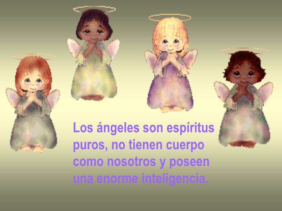 Los ángeles son espíritus puros, no tienen cuerpo como nosotros y poseen una enorme inteligencia.