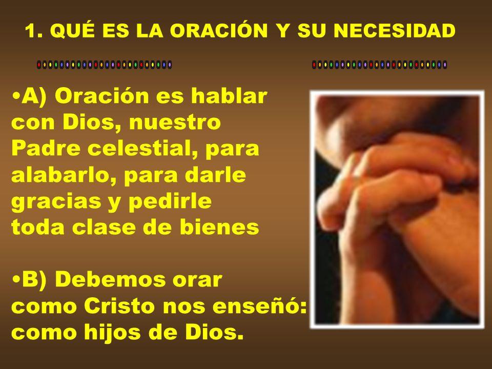 Debemos orar siguiendo el ejemplo del Señor.