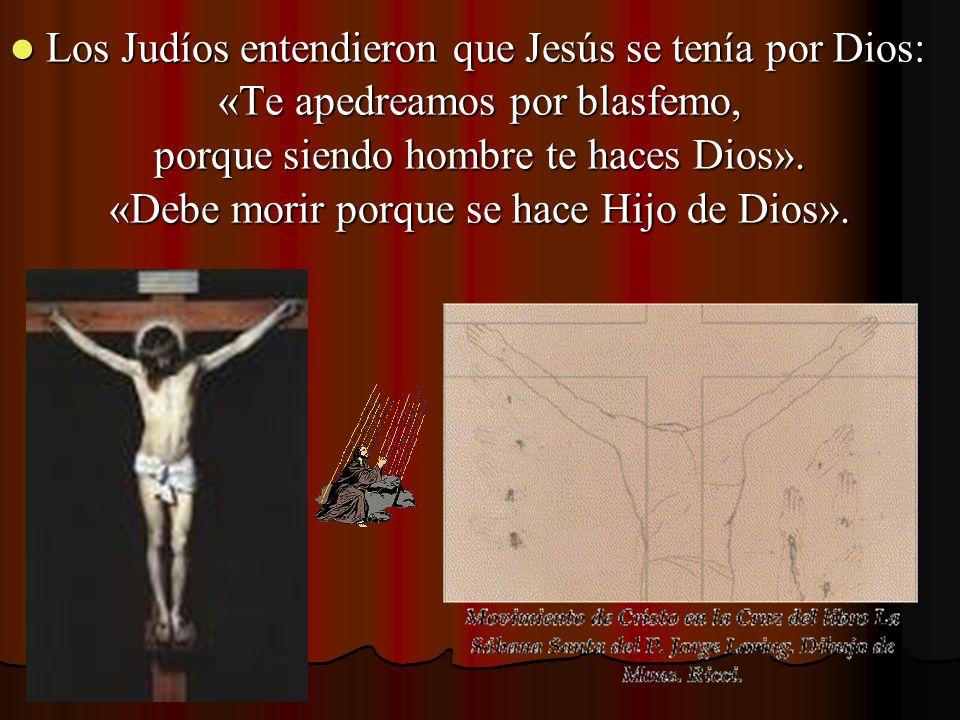 Los Judíos entendieron que Jesús se tenía por Dios: Los Judíos entendieron que Jesús se tenía por Dios: «Te apedreamos por blasfemo, porque siendo hom