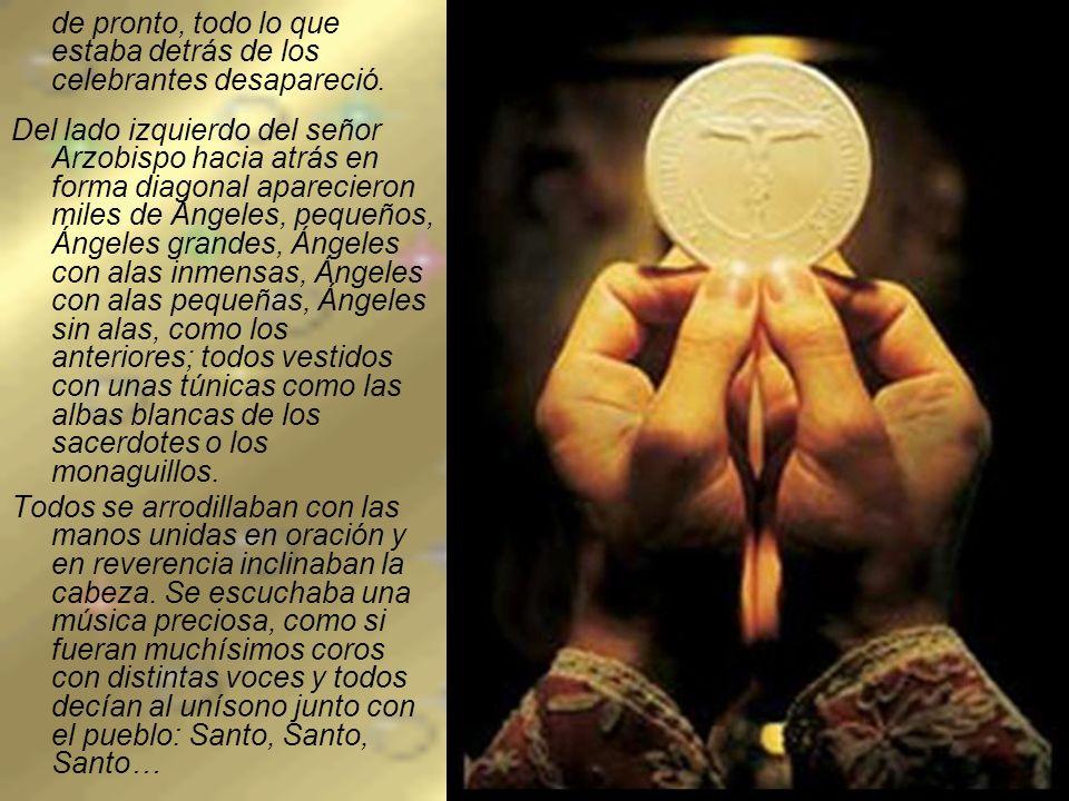 Había llegado el momento de la Consagración, el momento del más maravilloso de los Milagros...