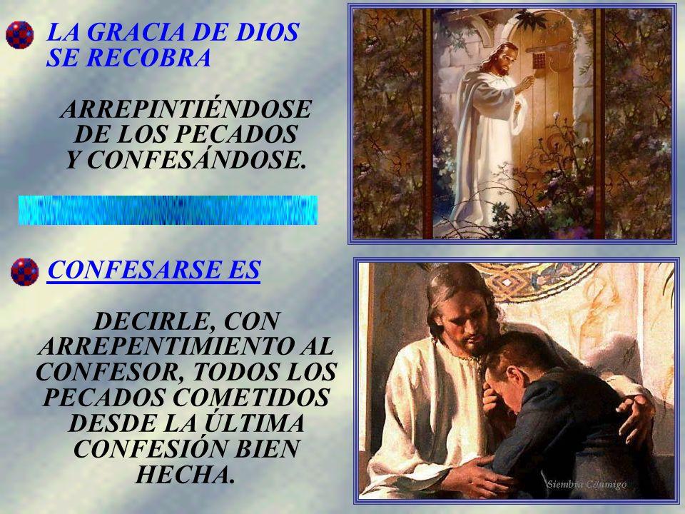 La confesión es una manifestación externa del arrepentimiento de nuestros pecados.