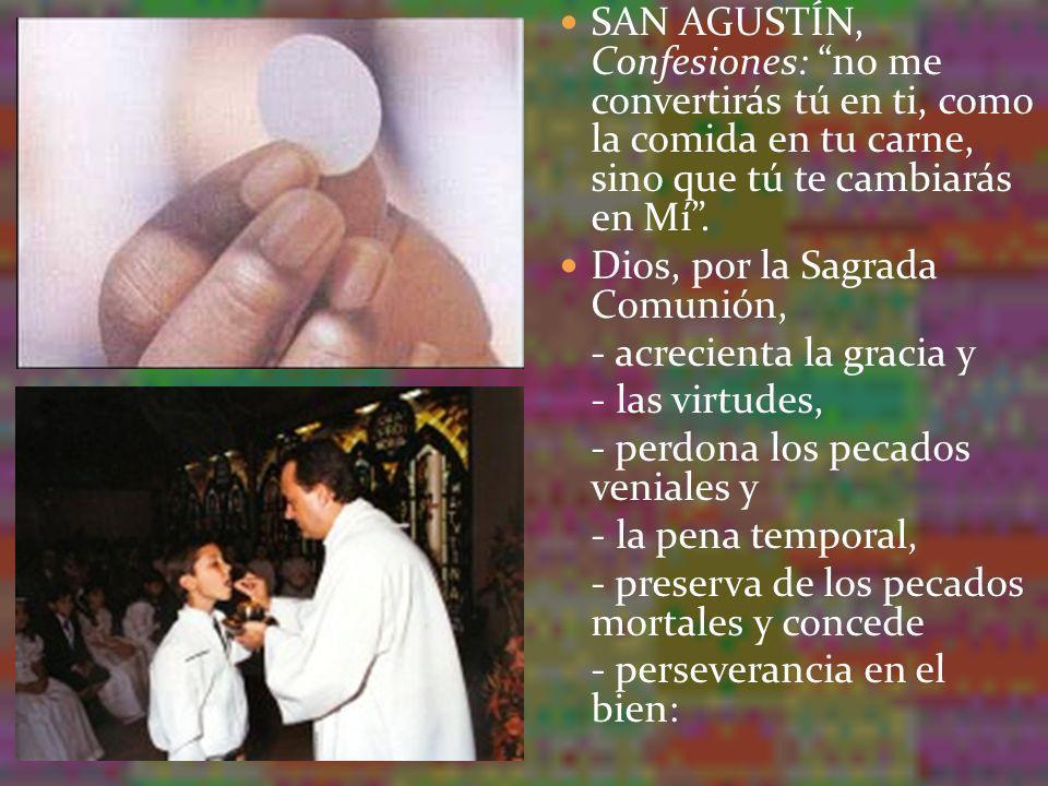 en una palabra, estrecha los lazos de unión con Él Pero la Eucaristía no ha sido instituida para el perdón de los pecados mortales; esto es lo propio del sacramento de la Confesión.